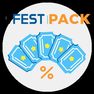 5 Entradas generales (más de 1.31m.),Combo válido del 17 al 22 de julio de 2019,Pack válido para todos los usuarios que realicen la compra de las entradas de manera online y con antelación,Unidades diarias limitadas