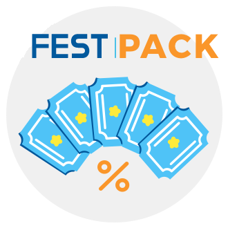5 General Tickets (above 1.31 meters),Pack available from 17/07/19 to 22/07/19,Pack valid for all users who purchase tickets online and in advance,Limited daily units